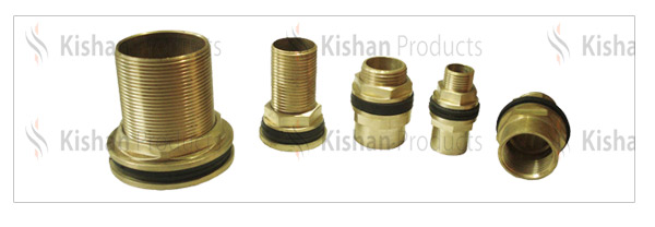 Brass tank connectors various types of